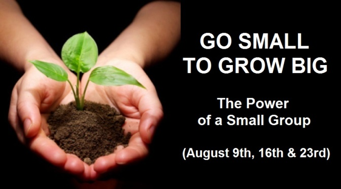 Go Small to GROW BIG – Part 3 of 3