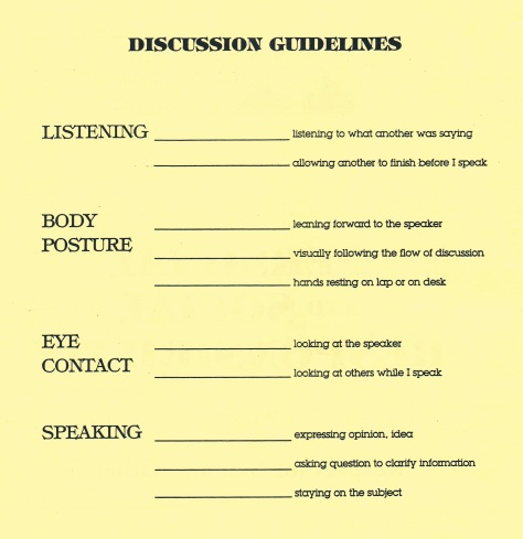 Discussion Guidelines
