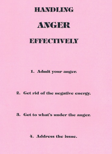 Handling Anger Effectively