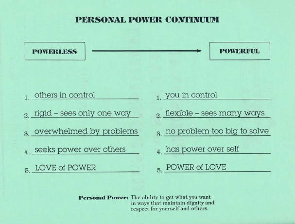 Personal Power Continuum