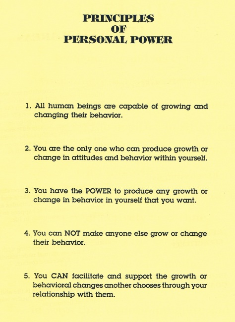 Principles of Personal Power