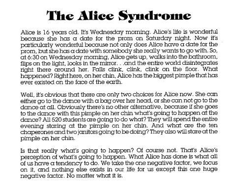 ALICE Syndrome