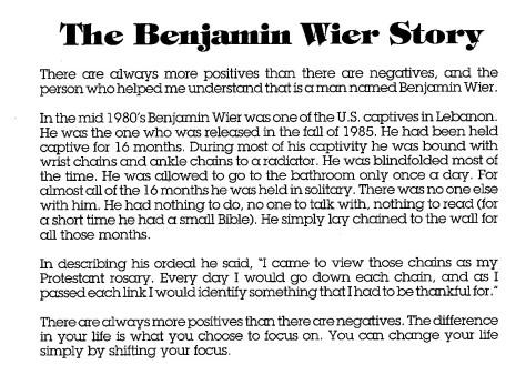 BEN WIER STORY