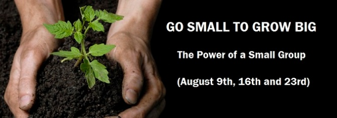 GO SMALL TO GROW BIG – Part 1 of 3